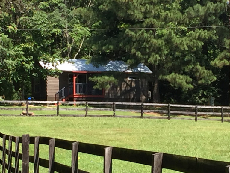 Landscape View of the Tryon Chalet Cabin Columbus N.C.