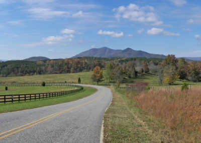 polk county fall mountain panorama